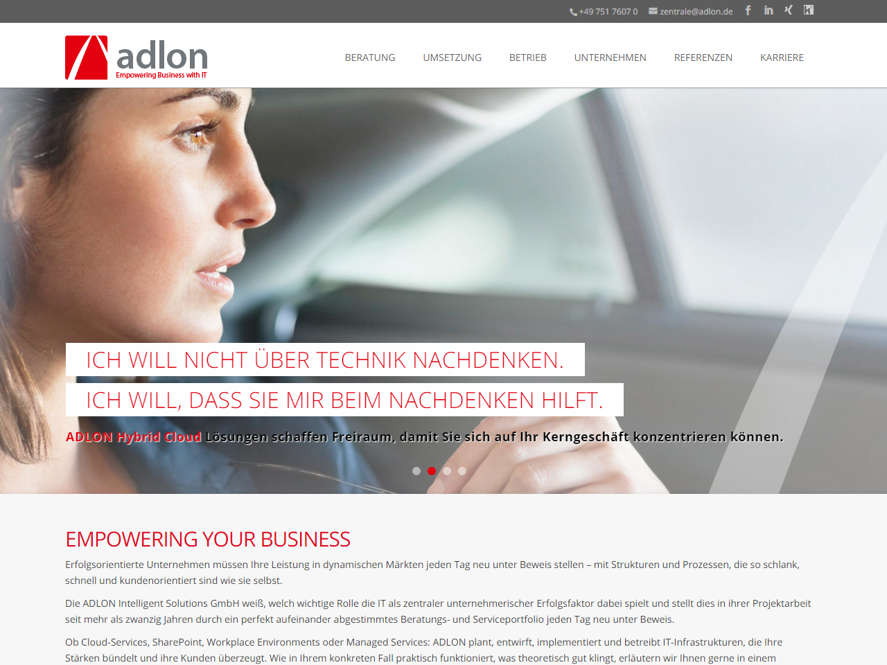 ADLON Intelligent Solutions GmbH Screenshot
