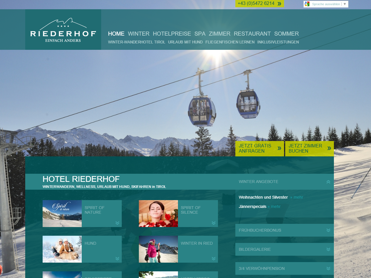 Hotel Riederhof Screenshot